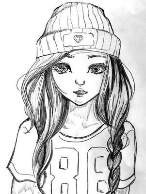 Nakreslená dívka